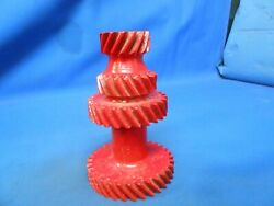 1934 Plymouth Transmission Gear Paperweight Lamp Base Candle Stick Steampunk
