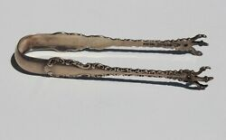 1891 Whiting Manufacturing Co. Sterling Silver Small Sugar Pickle Tongs Louis Xv