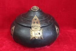 Brass Case Box New Antique Wooden Home Decor Collectible Halloween Gifts Pl-40
