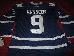 Ted Kennedy Inscribed Hof 66 Signed Toronto Maple Leafs Jersey Autographed