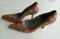 Lynnette Griffin Designer Signed Fashion All Leather Womenand039s Ladies 3.5 Shoes 8