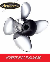 Apollo Stainless Steel 4 Blade Propeller For Yamaha 150 - 300hp 14 X 22 993206