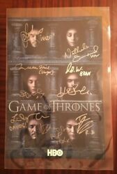 Sdcc 2016 Autographed Game Of Thrones Poster