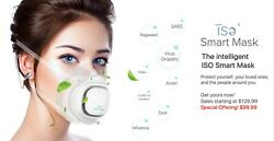 ISO Reusable Smart Mask with Electric Fan that Blows Filtered Air