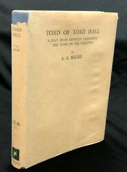 A A Milne - Toad Of Toad Hall Signed 1st Ltd Edition 1 Of 200 Methuen 1929