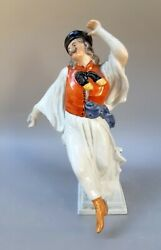 Large Old Porcelain Hungarian Herend Peasent Farmer Traditional Figure Figurine