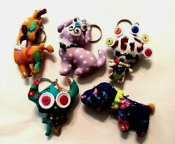 Stuffed Keychains Dolls animals and monsters Jamie Hayes New Orleans cat dog $20.00