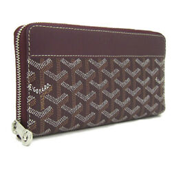 Goyard Coated Canvas/leather Purse Bordeaux Wine Red