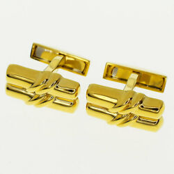 And Co Cufflinks Cuff Links 18k Yellow Gold Authentic Gorgeous Vintage