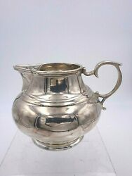 English Sterling Silver Milk Pitcher Creamer Made In Sheffield England 8147