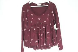 Altar#x27;d State Babydoll Top Embroidered Shirt Bohemian Small New Flowers women