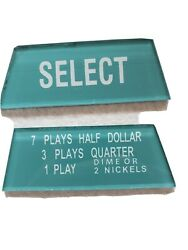 Wurlizer Jukebox Wallbox 5250 Select And Coin Instruction Inserts