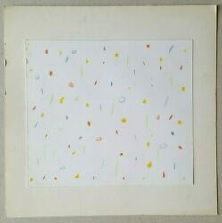 Drawing Original Pencils Colour Albert Chubac Abstraction School Of Nice 20th