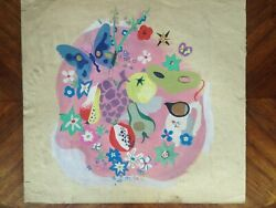 Painting Gouache Per Helene Bezombes Project Tapestry Nature Butterfly