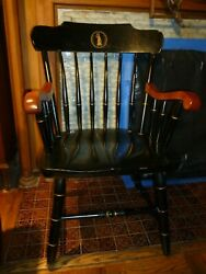 Classic Vintage University Of Virginia Armchair. Good Solid Used Condition. 1987