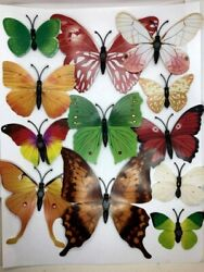 12 pcs 3D Butterfly Wall Stickers Magnetic Decals US seller