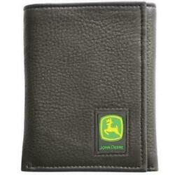 Men's John Deere Tri-Fold Leather Wallet (Black) - LP12268 $26.99