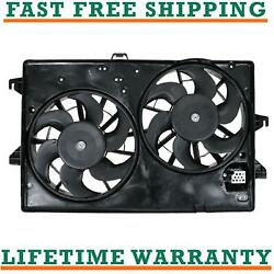 Radiator Condenser Fan For 95-00 Ford Fits Contour 2.5l V6 Free Shipping