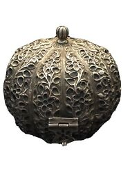 19th Century Mughal Silver Black Inlaid Box Beautiful Sell As It Is