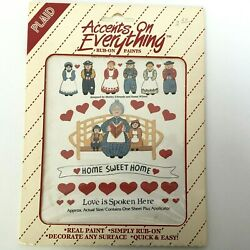 Plaid Accents On Everything Rub-on Paints Home Decor Love Spoken Here Vintage