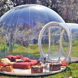 Clear Inflatable Dome Tent Bubble Tents Outdoor Transparent Camping Igloo Pump