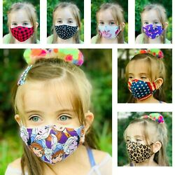 Face Mask Kids  Adult Cotton Fabric MADE IN USA Washable Reusable Unisex