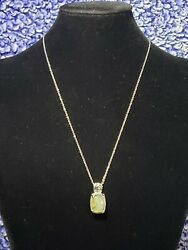 Malagasy Labradorite 11.25 Ctw Pendant In Stainless Steel Necklace With...