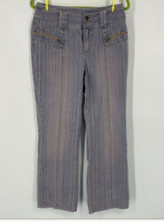 Newport News Pink And Blue Bootcut Jeans. Zippered Pockets. Unique. Size 10