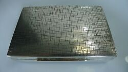 Antique Germany Hallmarked Hinged Lid Silver 835 Box Wooden Interior