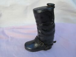 Rare Vintage Riding Boot Bottle Flask Porcelain Marked Foreign Perfect