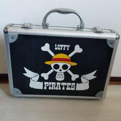 Attache Case Luffy One Piece Exclusive Tagged Inner Pocket Black Silver Used