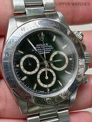Rolex 16520 Daytona Zenith Inverted 6 FULL SET BOX PAPERS and Tags Complete