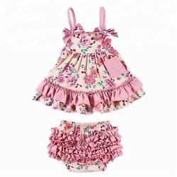 Baby Toddler Floral Boutique Outfit NEW Party Birthday dress ruffle girl swing