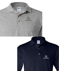 Embroidery Mercedes-benz Embroidery Logo Several Colors Polo Shirts
