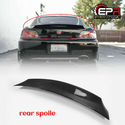 For Honda S2000 Ap1 Ap2 Carbon Fiber Zr Style Rear Spoiler Trunk Duckbill Wings