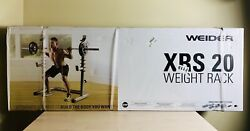 Weider Xrs 20 Olympic Squat Rack With Adjustable Safety Spotters And Bar