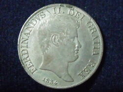 Italy Naples And Sicily 120 Grana 1834 Silver Coin High Grade P-135