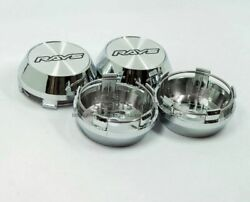 4 Pcs Ray Style 60mm/55mm Japan Fr-s 86 Msw Weds Chrome Racing Wheel Center Caps
