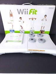 Wii Fit Balance Board Nintendo Exercise Fitness + Wii Fit DVD and Coasters