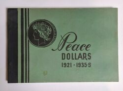 Vintage Meghrig Coin Folder G-19 For Peace Dollars From 1921-1935