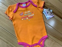 Nwt One Pc Orange Short Sleeve Baby Essentials Ive Got Daddy Wrapped... 0-3m