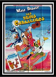The Three Caballeros - Disney - Original French Movie Poster 47x63 In