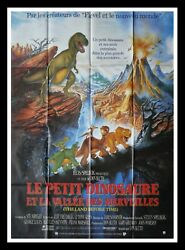 The Land Before Time - Don Bluth - Original French Movie Poster 47x63 In