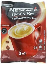 Nescafe 3 In 1 Original Blend And Brew Instant Coffee 2-pack Date March 31 2022
