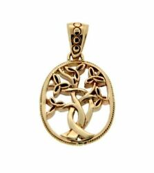 14k Yellow Tree Of Life Small Pendant By Keith Jack