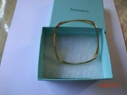 And Co Frank Gehry Torque 18k Solid Gold Bangle Bracelet - Unique, Rare