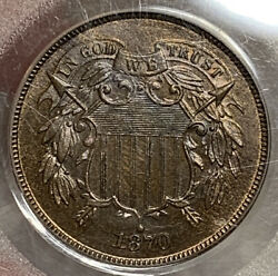 1870 Two Cent Piece Pcgs Pr65rb Absolute Monster W/ Fantastic Pink And Purple