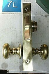 Nice Heavy Yale Mortise Lock Set Brass Rosette And Knobs Replacement Best Cylinder
