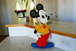 Rare Vintage 1950s Mickey Mouse Stuffed Doll 18h