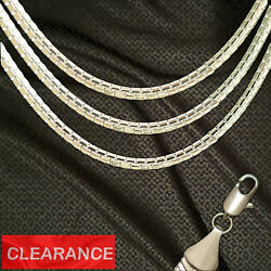 Wholesale Closeout Lots Stainless Steel 4mm Box Chain Necklace Wbx4